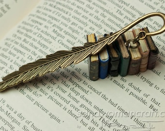 Bookmark-Book-Page marker-Miniature books-Leather books-Gift-Present-Reading Lover-Bookmarks-Set-Library-Librarian-For her-For him-Love-Care