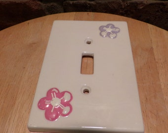 Ceramic light switch cover, flower light switch cover, light switch cover