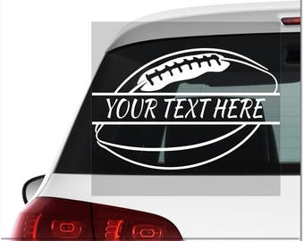 Football Decal Etsy - Football custom vinyl decals for cars