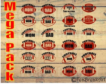 I like the game but I love the player American Football Monogram Digital Cutting Files SVG PNG DXF jpg iron on heat transfer decal 608C