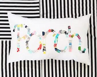 Porch Pillow, Word Pillow