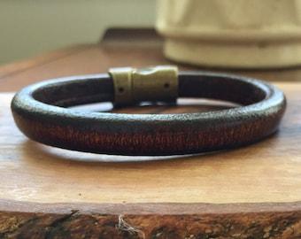Mens Leather Bracelet, Leather bracelet, men's bracelet, birthday gift man, Men's bracelet, fathers day gift, man's bracelet, gift for him
