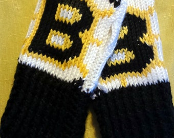 Fingerless Gloves Wrist Warmers Boston Bruins Adult Sizes