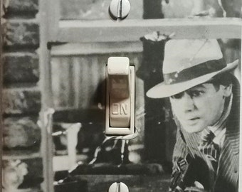 Original Scarface 1932 Paul Muni as Tony Vintage Classic Movie Light Switch Cover Mancave Home Theater Den Dorm FREE US SHIPPING