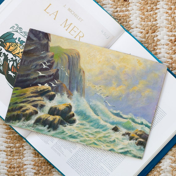 RESERVED for BRENDA - Coastal Cliffs Painting