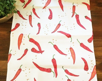 Korean Red Chili Pepper (Hong-gochu / 홍 고추)  Towel