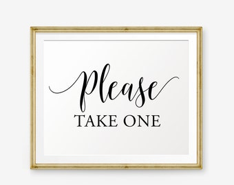 Wedding Please take one Sign Printable, Please Take One, Wedding Sign, Wedding welcome sign, Wedding Sign, Wedding Decor, reception sign