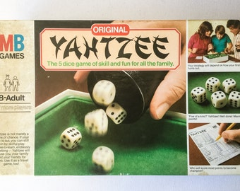 Vintage Yahtzee Game, MB Games Original Yahtzee, Dice Game, 2 or More Players Ages 8 to Adult, 1982, 01307