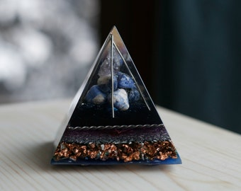 Orgone Pyramid- Clear Quartz, Sodalite