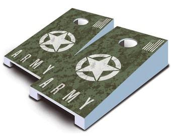 Army Digital Camo Tabletop Cornhole Board Set.