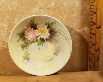 Vintage 1930's Floral China Plate - Bavaria