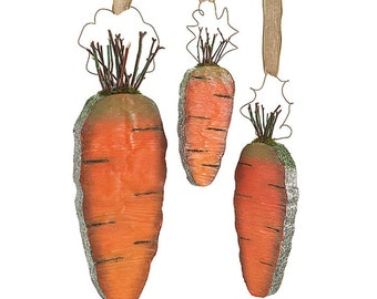 HANGING CARROTS-SET of 3/Wreath Supplies/Easter Decor/9724344