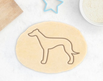 Greyhound Dog Cookie Cutter - Animal Pet Cookie Cutter Custom Dog Treat Cookie Cutter Dog Lover Pet Gift Cupcake Topper - 3D Printed
