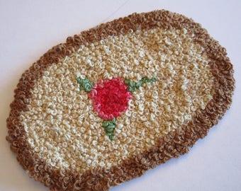 Handmade dollhouse rug