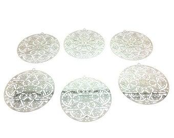 10 prints ornate openwork silver 50x48mm Platinum