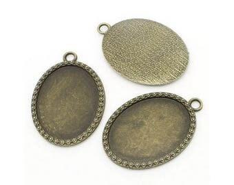 10 cameos bronze cabochon pendants of40x30mm