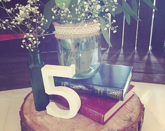 AVAILABLE TO HIRE*** Rustic wood slice perfect for table centrepieces