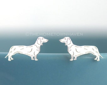 Dachshund Earrings - Weiner dog studs, Doxie lover, pet lover gift, Dashund studs