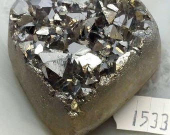 A-1533 Titanium Aura Quartz Crystal Heart 2.4 oz.