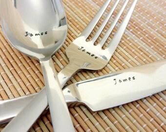 3pc personalised cutlery set