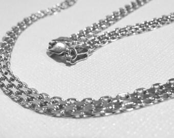 Bismark MILOR Chain Sterling Silver Necklace. Lobster Clasp Closure.