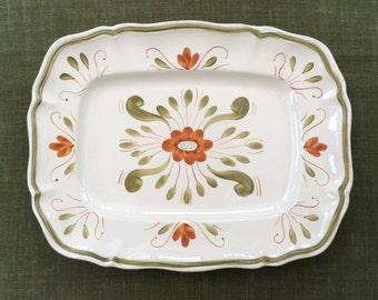 French vintage Sarreguemines Venise platter