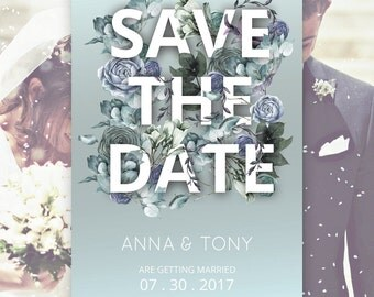 Save The Date Cards | DIY Save The Date Card | Floral Save The Date Card