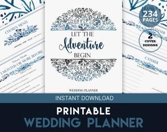Engagement Gift, Wedding Planner, Wedding Organizer,  Blue Wedding
