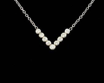 """Diamond """"V"""" Necklace"""