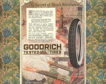Automotive Poster -- Vintage Automobile Illustration -- Goodrich