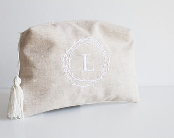 My little secret pouch. Initial purse bag with embroidered and secret message.