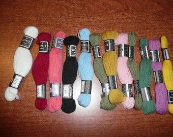 106 Wool Yarn Skeins-1-2-3, Coats, Coats & Clark,Dunnar, Paterna,Zephyr