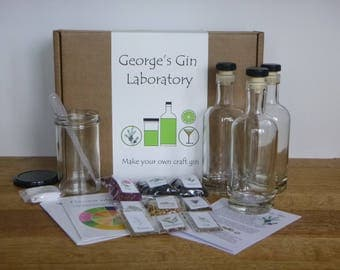 Personalised GinCraft Plus - make your own craft style gin (deluxe kit)