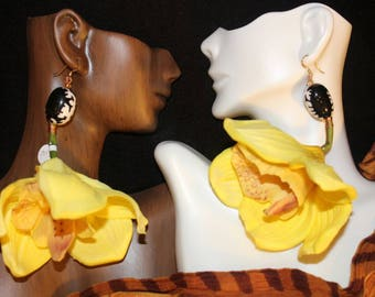 Sunfire Orchid Earrings