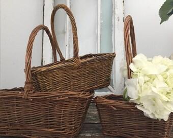 Rustic Twig Basket Set of 3