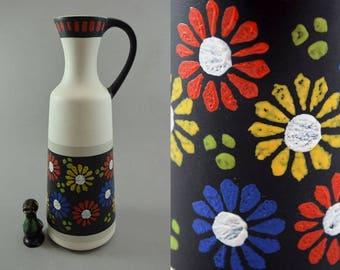 "Vintage vase/jug / Dümler & Breiden / ""Flowerpower""   West Germany   WGP   60s"