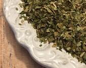 Mint Mate Herbal Tea-hand-blended, yerba mate, peppermint, caffeine, energy, morroccan mint