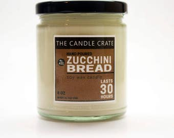 Zucchini Bread 8 Ounce Scented Soy Wax Candle