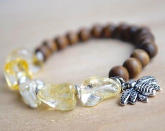 BEE BALANCED // Citrine Bracelet / Save the Bees / Yoga Bracelet / Meditation Bracelet / Charm Bracelet / Genuine Gemstone Bracelet