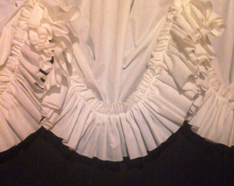 Cream Valance ,ruffle Curtains ,country Curtains,ruffled Valance