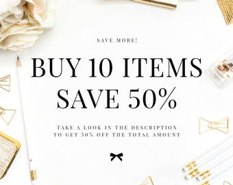 COUPON Buy 10 Items - Save 50%