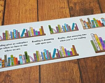 Book Shelf Planner Stickers | Reading | Books