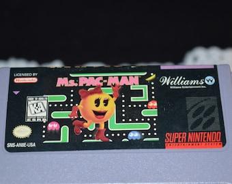 Super Nintendo / Game / Ms. Pac-Man / Super Nintendo game / Super Nintendo Ms Pac-Man / Ms Pac-Man / vintage video game / SN video game
