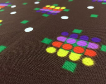 Vintage 80s Fabric: 50cm x 1, 60m geometric fabric