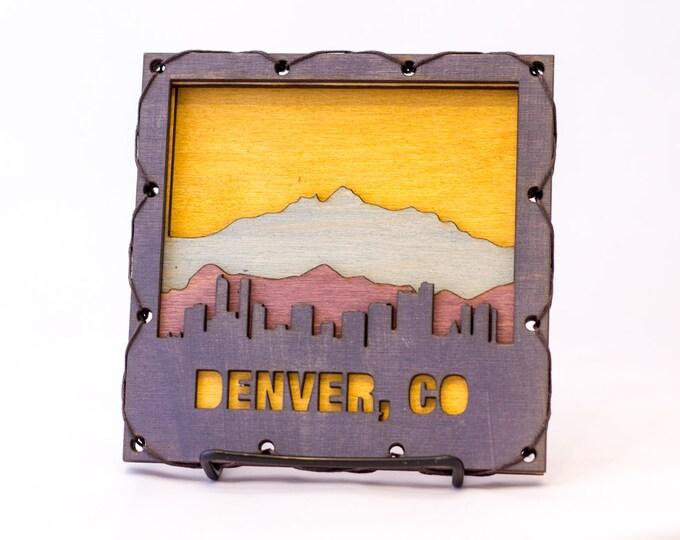 Colorado Home Decor - Denver Art - Denver Wall Hanging - Denver Decor - Colorado Decor - Denver Decorating Idea