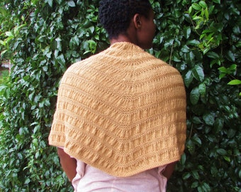 READY TO SHIP Knit Ruched Cowl - 100% Merino Wool Shawl
