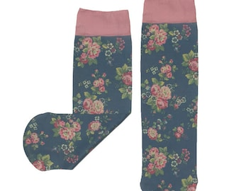 English Floral Socks
