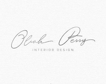 PREMADE LOGO. Watercolor Logo. Handwritten Font. Handwritten Logo. Blog Header. Boutique Logo. Company Logo Design. Custom Logo. Branding.