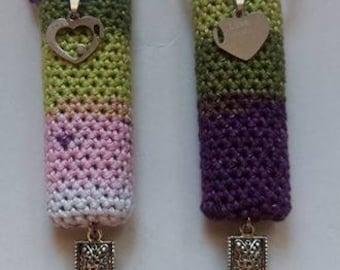 I love you, handmade crochet lighter cozy set.