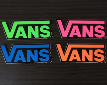 Vans Stickers, Set Of 4. | Decals Skateboard Skate BMX Snowboard Surf Motocross